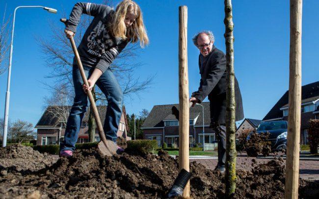 Pieter van Lierop persfotograaf boomplantdag Hedel
